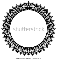 oval frame tattoo design. Abstract Vector Black And White Illustration Round Beautiful Tracery Frame. Decorative Vintage Ethnic Mandala Pattern Oval Frame Tattoo Design T