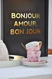 Good Morning Quotes In French Best of French Gold Print Poster Bon Jour Amour Gold Foil Print