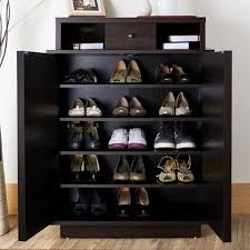 shoe furniture. furniture of america arthurie espresso enclosed 5shelf shoe cabinet r