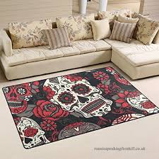 jstel ingbags super soft modern colorful sugar skull with fl area rugs living room carpet bedroom