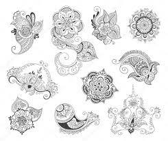 элемент набор татуировки хной векторное изображение Lemuur