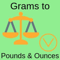 Lbs And Oz To Grams Chart Grams To Pounds And Ounces Weight Converter G To Lbs And Oz