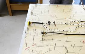 airbus a380 800 tasty tech lufthansa magazin the complex electrical routing is mapped out on this table