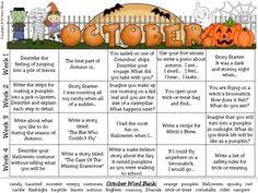 halloween writing prompts for middle and high school halloween   halloween writing prompt calendar common core standards