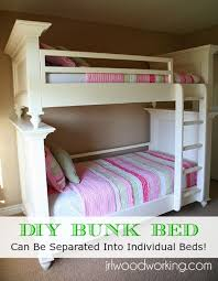 diy twin bunk beds. Delighful Twin DIY TwinOverTwin Flat Panel Bunk Bed Throughout Diy Twin Beds D