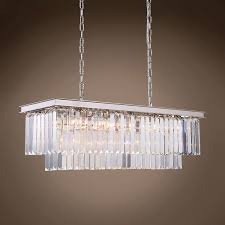 outdoor exquisite odeon glass fringe rectangular chandelier 3 502754 01 glamorous odeon glass fringe rectangular chandelier