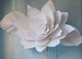 White Paper Flower Backdrop Chanel Show Inspired Huge Large White Paper Flowers Backdrop