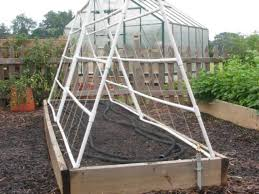 four trellis sections make the a frame structure