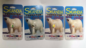 Skandia Tungsten Ice Jig Size 10 Hook Choose Two Packs Of One Color Skp