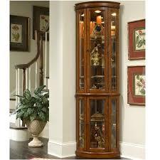 pulaski edwardian ii corner curio cabinet