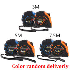 3m 5m 7.5m Retractable Tape Measure 3-Way-Lock Metric Rubber ...