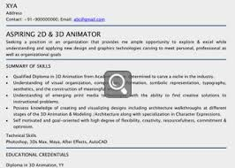 3d Animator Resumes Classy Maya Animator Sample Resume With 3d Animator Resume Samples
