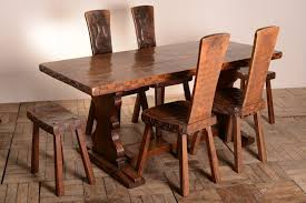 quality moth man oak dining table chairs stools
