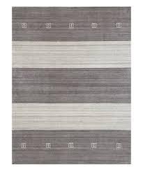dark gray color block wool blend rug
