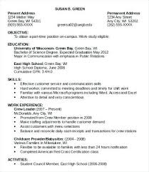 Resume Job Objective Examples Sample Job Resumes Templates Doc Free Premium Professional