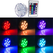 Multi Color Pool Light 10 Led Multicolor Pool Light Submersible Waterproof Party Vase Base Light Bright Lamp Blub Remote Control For Wedding Decor On Aliexpress Com