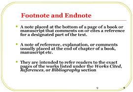 footnotes and works cited reference citation styles p