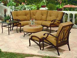 Volare Collection Cast Aluminum Outdoor Sofa Group Cushioned Patio