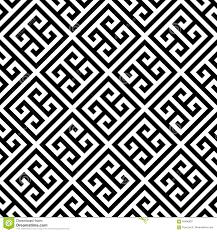 Grecian Key Design Greek Key Seamless Pattern Background In Black And White