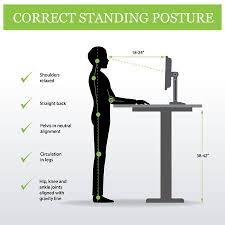 standing desk posture. Brilliant Desk Correct Standing Posture On Height Adjustable Desk Or Table Sitting And  Pose Of For Standing Desk Posture N