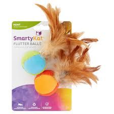 smartykat flutter catnip and feather cat toy 2 count walmart