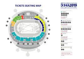 La Cigale Seating Chart With Numbers Iaaf 2019 Seating Map Marhaba L Qatars Premier