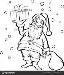 ベクトル イラストぬりえ本サンタ クロースのクリスマス プレゼント 質の