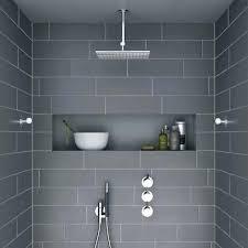 ceramic shower shelves modern shelf built in with dark grey tiles and niche home depot