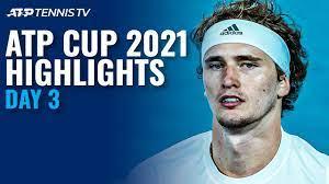 Djokovic & Zverev Battle For Semis; Tsitsipas Faces Bautista Agut | ATP Cup  2021 Highlights Day 3 - YouTube