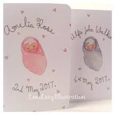 Personalised New Baby Keepsake Card