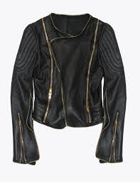 home women jackets gold zipper moto