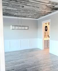 grey shiplap ceiling