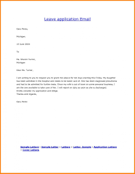 Leave Letter Template Ndash Formal Format To College