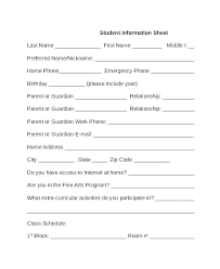Employee Emergency Contact Form Template Details Personal