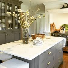 Kitchen marble top Carrara Marble Maura Endres Kitchen With Calacatta Gold Marble Top On Island Allbiz Maura Endres Kitchen With Calacatta Gold Marble Top On Island