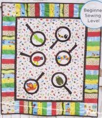 Bugs Magnified Quilt Kit & Fun quilt kit using the Bug A Boo line from Adornit. Adamdwight.com