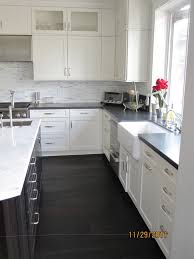 White Kitchen Dark Wood Floors Cabinet Dark Wood Floors With White Kitchen Cabinet
