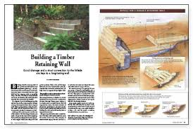 Small Picture Building a Timber Retaining Wall Fine Homebuilding