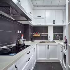 White Shaker Luxury Modular Kitchen Cabinets Solid Wood Direct From