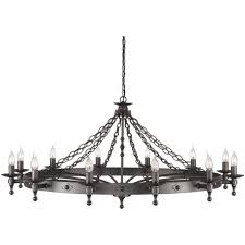 large meval cartwheel chandelier