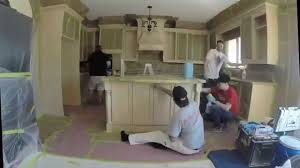 Respray Kitchen Cabinets Kitchen Cabinet Refinishing Toronto Paint Core Youtube