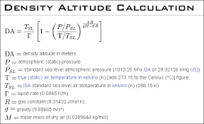 Density Altitude Computation Chart How To Work With Density Altitude In Ballistics Calculations