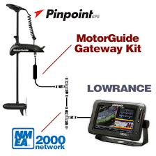pinpoint lowrance gateway trolling motors it connects your compatible lowranceacircreg hds fishfinder chartplotter your pinpointacircreg gps equipped motor via the nmea 2000 network