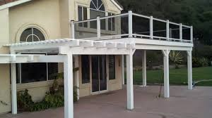 San Clemente, Patio Cover and Balcony with smoked glass Railings  traditional-deck