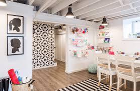 basement interior design ideas. Playful Basement Art Room Basement Interior Design Ideas E