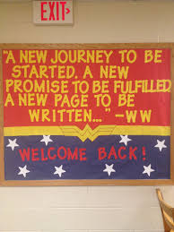 My Welcome Backwonder Woman Bulletin Board Ra Youth Ministry