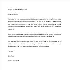 thank you letter appreciation thank you letter for appreciation 9 free word excel pdf