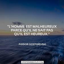 Citation De Fiodor Dostoïevski Sur Le Bonheur