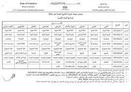 جدول امتحانات... - مدرسة مريم بنت عمران الثانوية للبنات