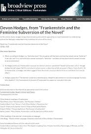 our popular edition of frankenstein just got better welcome to  screencapture frakenstein 1